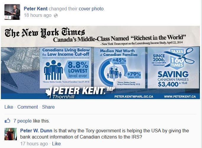 Peter Kent timeline